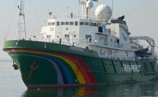 L'Esperanza, bateau de Greenpeace arraisonné le 30 mai 2014 par les garde-côtes norvégiens, le 1er décembre 2012 à Manille