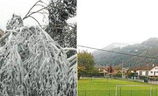 Le 28 octobre 2012, alors que le centre de Grenoble (ici le quartier Vigny-Musset) croule sous la neige, à 15 km de là, Le Versoud est encore en «été».