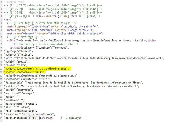 Le code source de l'article montre que l'article a été publié le 11 décembre à 20 h 41.