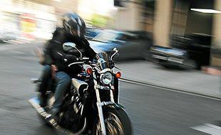 Nice, le 050213 - Illustration motards moto sÈcuritÈ routiËre accidents