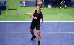 Rafael Nadal après sa victoire contre le Russe Daniil Medvedev en finale de l'US Open, le 8 septembre 2019.