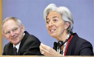 Christine Lagarde, ministre de l'Economie, et son homologue Wolfgang Schäuble.