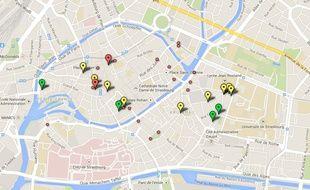 Schlouk Map, première carte interactive pour trouver les bars avec un happy hours à Strasbourg.