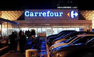 A photo taken on December 30, 2009 shows a Carrefour supermarket in Lyon, eastern France, where a 25-year old man died by suffocation on December 29 while he was detained by 4 vigils. The four vigils of the supermarket will go on trial at Lyon courthouse on November 19, 2015. AFP PHOTOAFP PHOTO / JEAN-PIERRE CLATOT