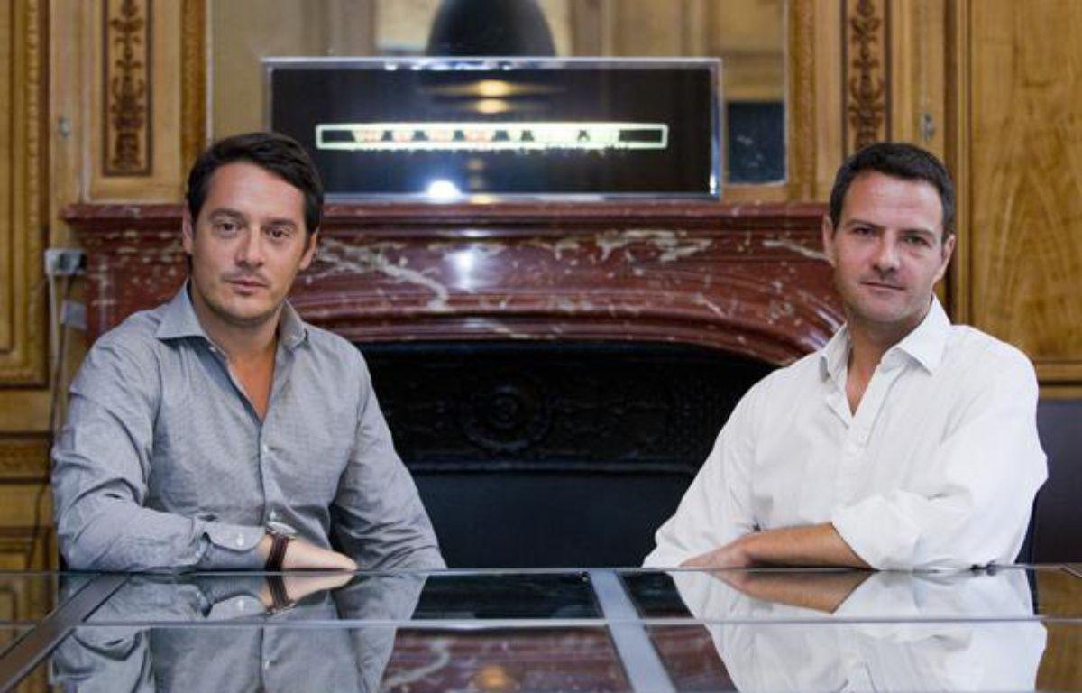 Jérôme Kerviel (d.) et son avocat Me Koubbi, le 9 septembre 2013 à Paris. – V. WARTNER / 20 MINUTES