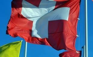 Illustration du drapeau suisse.