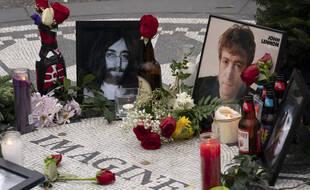 Le mémorial Strawberry Fields en hommage à John Lennon, à New York.