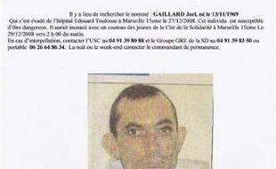 Le schizophrène dangereux qui s'était échappé vendredi de son hôpital psychiatrique de Marseille a été interpellé ivre durant le Nouvel an à Aix-en-Provence (Bouches-du-Rhône), à l'aube du sixième jour de sa fuite.