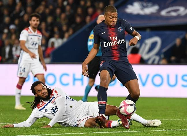 Mbappé against Denayer