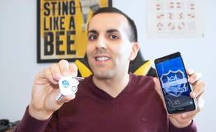 Mehdi Hannaizi, ingénieur lyonnais, a élaboré un porte-clés connecté pour éviter les vols de téléphone.