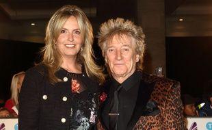 La présentatrice Penny Lancaster et son mari, le musicien Rod Stewart
