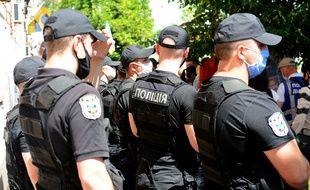 Policiers ukrainiens, illustration.