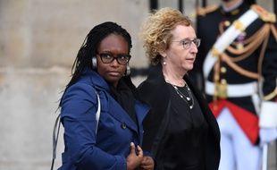 Avant les obsèques de Jacques Chirac en septembre, Muriel Pénicaud (à droite) et Sibeth Ndiaye. (archives)