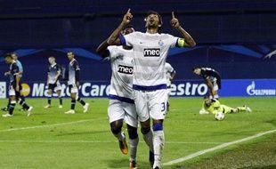 Lucho Gonzalez, buteur avec Porto en Ligue des champions, le 18 sptembre 2012 à Zagreb.