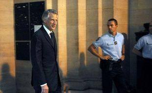 Dominique de Villepin au procès Clearstream le 12 octobre 2009