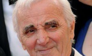"""Charles Aznavour à la première du film """"Up"""" au 62ème Festival de Cannes, le 13 mai 2009."""