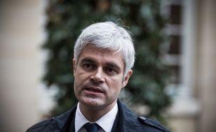 Laurent Wauquiez, chef de file des Républicains, lundi 3 décembre à Matignon.