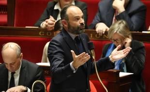 Edouard Philippe à l'Assemblée, le 14 janvier 2020. (Ludovic Marin/AFP)