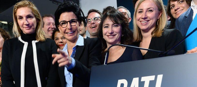 Rachida Dati (LR) et ses équipes ce lundi