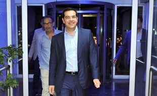 Alexis Tsipras à son arrivée à la chaîne de télévision ERT, à Athènes, en Grèce, le 29 juin 2015.