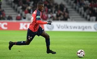 Nicolas Pepe, l'attaquant du Losc, lors d'un match contre Sochaux en Coupe de France.