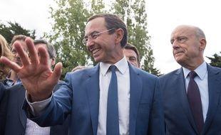 Bruno Retailleau a reçu le soutien d'Alain Juppé, François Fillon et Nicolas Sarkozy samedi à La Baule. S. SALOM-GOMIS S/SIPA/