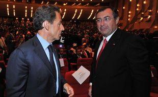 Nicolas Sarkozy et Martin Bouygues, le 21 mai 2011