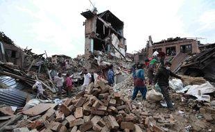 Des ruines à Bhaktapur, près de Katmandou, au Népal; le 29 avril 2015.