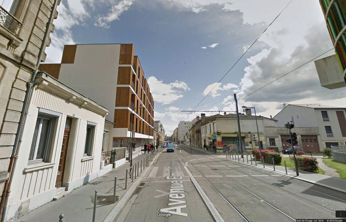 La femme de 65 ans a été retrouvée blessée à la tête avenue Emile Counord à Bordeaux.  – Google Maps