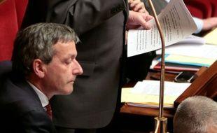 Le député François Rochebloine à l'Assemblée nationale à Paris le 10 mars 2015