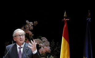 Le 21 octobre 2015 à Madrid, en Espagne. Le président de la Commission européenne Jean-Claude Junker.