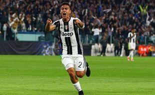 Paulo Dybala a marqué un doublé pour la Juventus contre Barcelone en quart de finale aller de la Ligue des champions, le 11 avril 2017.