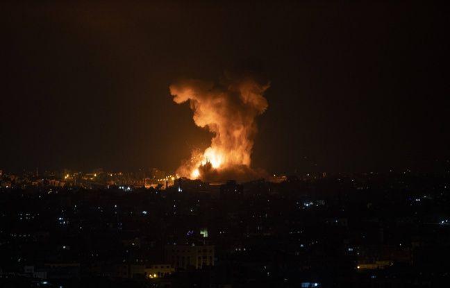 648x415 israel procede frappes aeriennes gaza nuit 10 11 mai 2021