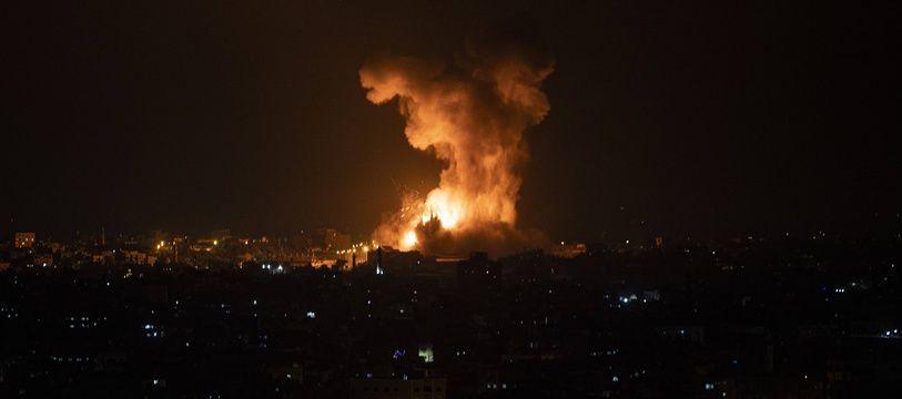 Israël a procédé à des frappes aériennes à Gaza dans la nuit du 10 au 11 mai 2021.