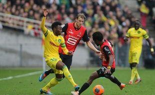 Le 23 février dernier, lors du derby à la Beaujoire.