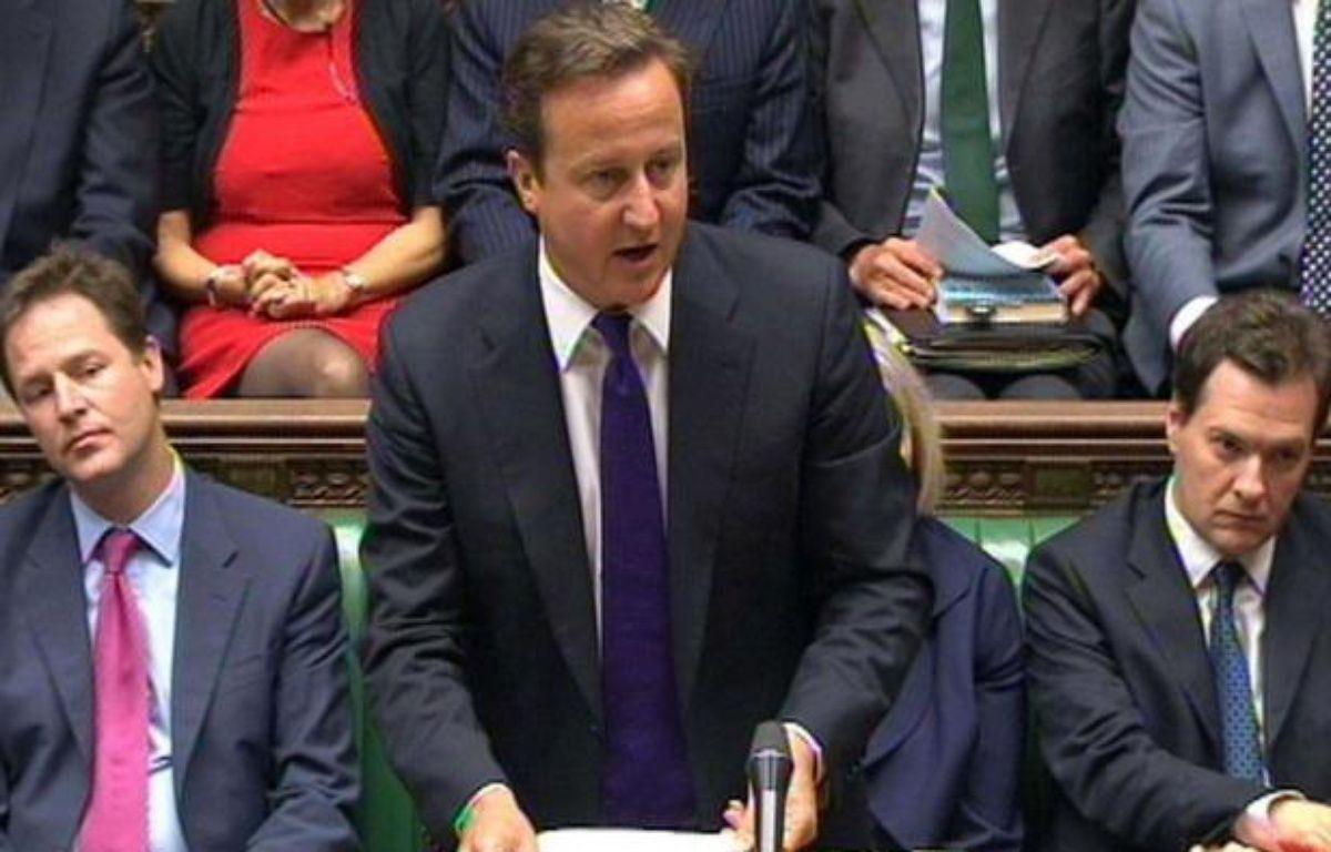 David Cameron s'est exprimé devant le Parlement anglais jeudi 11 août 2011 – PA/AP/SIPA