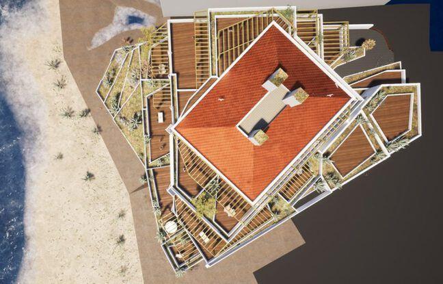 Plan du projet de résidence L'Oyat à Lacanau-Océan