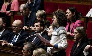 Bénédicte Peyrol, élue LREM, lors d'une session de questions au gouvernement à l'Assemblée nationale.