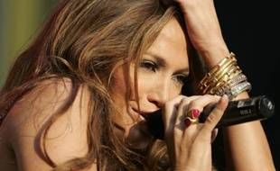 Jennifer Lopez en concert à New York, le 9 octobre 2007.