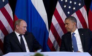 Le président russe Vladimir Poutine et son homologue américain Barack Obama lors d'une rencontre à Los Cabos (Mexique) le 18 juin 2012.