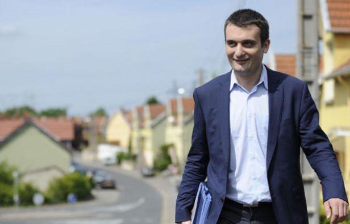Florian Philippot, le bras droit de Marine Le Pen, le 20 mai 2012, Freyming-Merlebach, en Moselle. – J.-C. VERHAEGEN / AFP