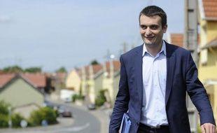 Florian Philippot, le bras droit de Marine Le Pen, le 20 mai 2012, Freyming-Merlebach, en Moselle.