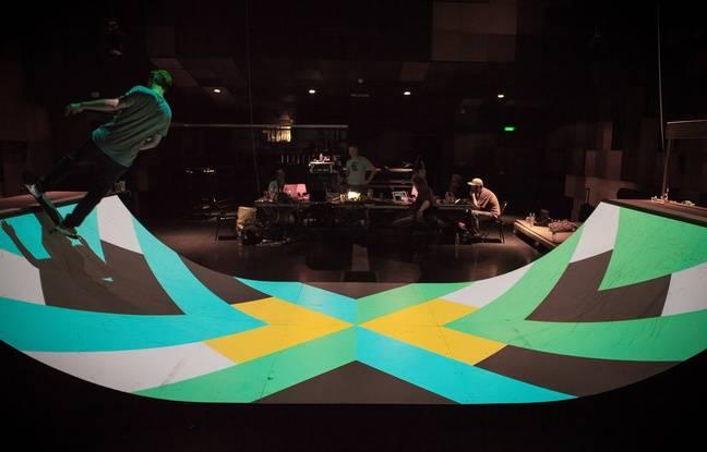 video nantes quatre jours pour tester la rampe de skate sonore imagin e par un membre des c2c. Black Bedroom Furniture Sets. Home Design Ideas