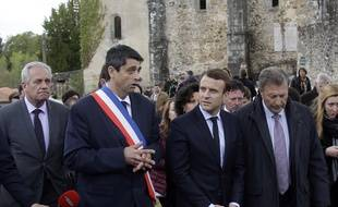 Le leader du mouvement, En Marche !, Emmanuel Macron à Oradour-sur-Glane, le 28 avril 2017.