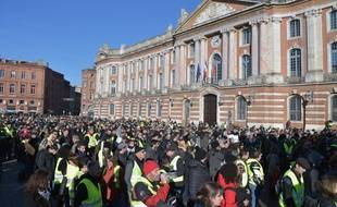 Samedi 5 décembre, place du Capitole, lors de l'acte 8 des «gilets jaunes».