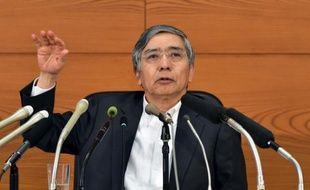 Le gouverneur de la Banque du Japon, Haruhiko Kuroda, le 7 octobre 2015 à Tokyo