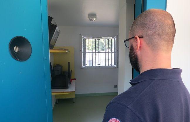 A la prison pour mineurs d'Orvault, près de Nantes