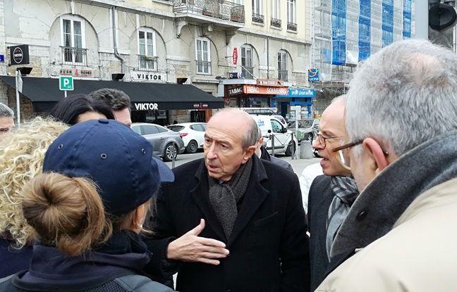 Lyon, le 12 décembre 2018. Le marché de la place Carnot à Lyon est placé sous haute sécurité ont annoncé le maire de Lyon Gérard Collomb et le préfet du Rhône Pascal Mailhos.