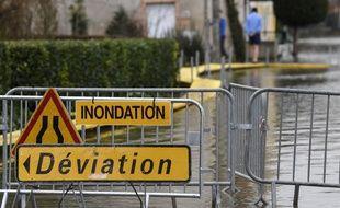 Photo d'illustration d'une commune française victime d'une inondation.