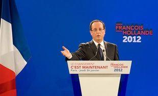 François Hollande a présenté son programme pour la présidentielle le 26 janvier 2012.